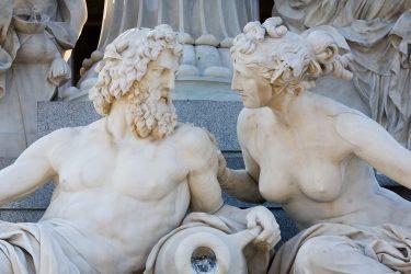 Pallas Athene fountain. Parlament. Vienna, Austria