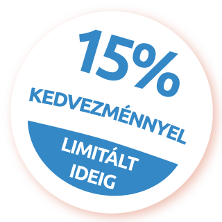 15% kedvezménnyel csak ma